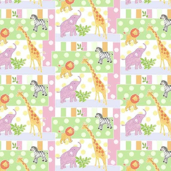 Nursery fabric cartoon fabric safari animal lion for Safari fabric for nursery