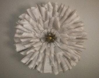 Book Wreath Handmade