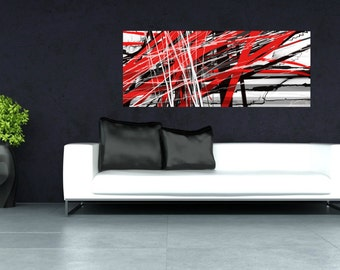 "Abstract canvas wall art ""#8"" by Luke Forster"