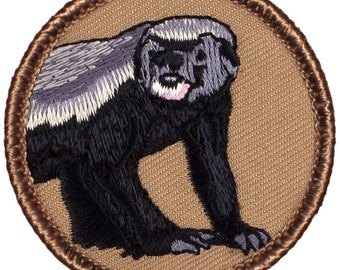 Honeybadger Patch (418) 2 Inch Diameter Embroidered Patch