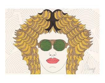 DREW 80s Illu Giclée