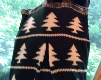 Green Trees Oversized Sweater Bag