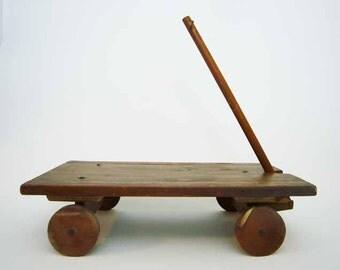 WAGON WITH STYLE - handmade cart - primitive yet futuristic