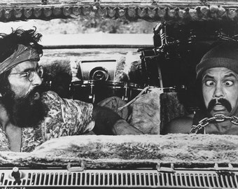 """Cheech And Chong Poster 13x19"""" Black And White"""
