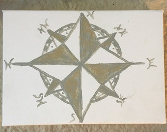 5x7 compass canvas