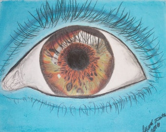 Handmade Chalk Pastel Eye