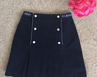 Fendi Jeans Roma 1925 Vintage Pleated Skirt