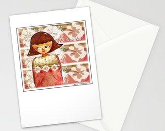 "Greeting Card - Blank - original Art ""Who Me"""