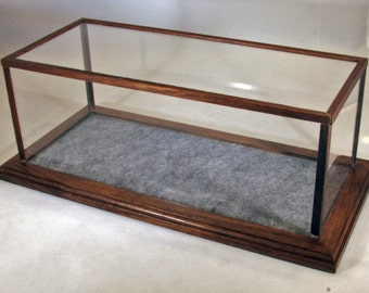 Walnut 1/24 Scale Model Car Display Case w/Marbled Gray Felt Floor //Model Display//Gifts for Collectors//Office Decor