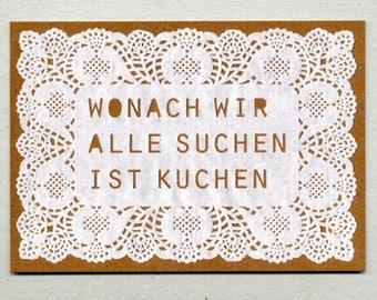 Post card for Kuchenliebhaber_innen