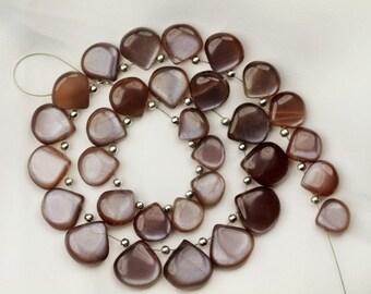 31 piece smooth CITRINE heart briolette beads 9 -- 13 mm