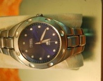 Men's Fossil Blue watch in Tin