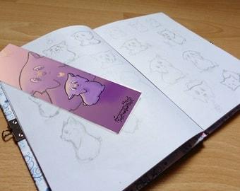 Pink animal bookmark