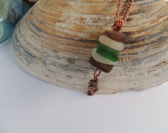 Genuine Lake Erie Beach Glass Stacked Necklace