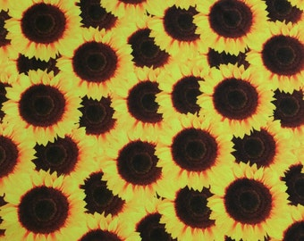 Spandex Lycra By The Yard - Sunflowers