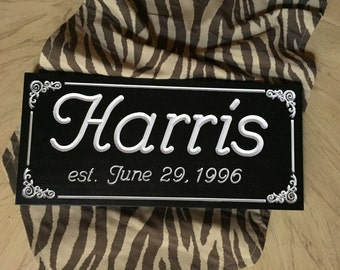 "Custom Carved Personalized Family Sign   ""FREE SHIPPING"""