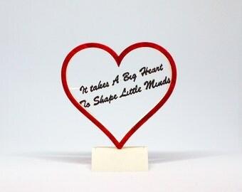 3D Printed Teacher Gift - A Big Heart