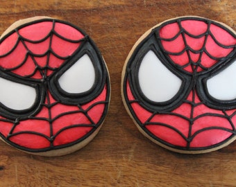Spiderman Cookies - 1 dozen