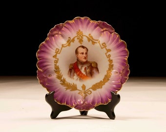 1920's French Porcelain Plate Napoleon
