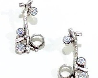 Earring in 925 Silver with Zircons