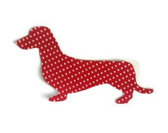 iron on sausage dog applique / sew on / no sew / Dachshund patch  / Doggy crafts / quilting applique / dog lover home decoration / cushion