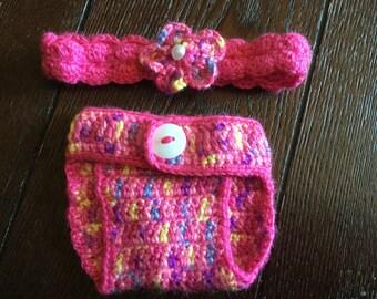 Pink crochet set