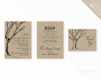 Delila Invitation Set, Printable