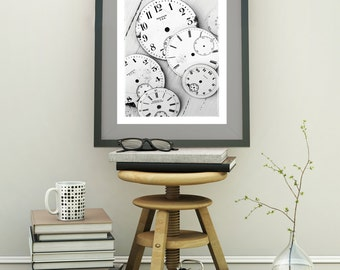 Time is precious, Photography Lover, Digital Art Print, Office Decor, Gift for Him, Modern Wall Art