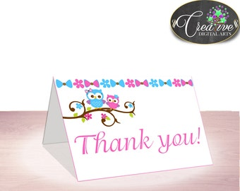 Baby Shower Forrest Baby Shower Soren Gratitude Thank-you Note THANK YOU CARD, Prints, Customizable Files, Party Ideas - owt01