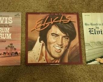 3 Elvis Presley records