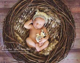 Newborn Owl Pattern, Crochet Owl Pattern, Newborn Owl Prop, Crochet Pattern, Prop Pattern, Owl Hat Pattern