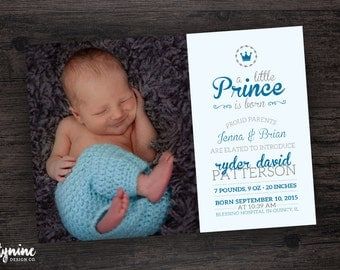 A Little Prince or Princess is Born Birth Announcement