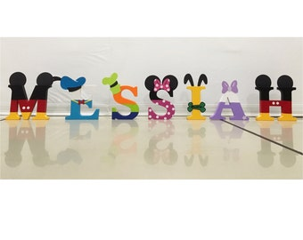 """Small Mickey Mouse Clubhouse Letters (3"""")   Mickey Mouse Letters   Mickey Mouse Birthday Party"""