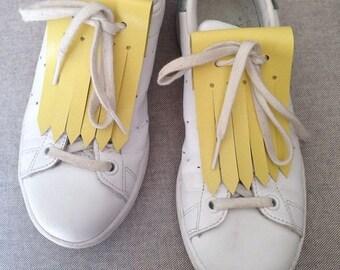 Yellow leather fringe