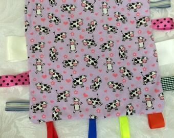 Baby's Taggie Blanket, Comforter, Ribbon Blanket
