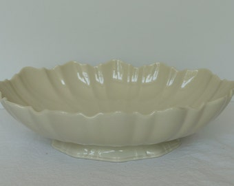 "Lenox china ivory 11"" x 7"" serving bowl"