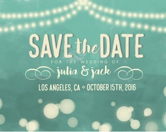 Wedding Save the Date card No. 2 -- PDF Download