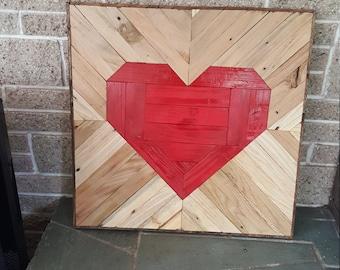 Heart Wall Art <3 Reclaimed wood!