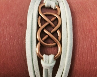 Double Infinity Wrap Bracelet (mint green)
