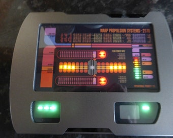 Star Trek Large Voyager Warp Core PADD Prop replica working lights & sounds HERO