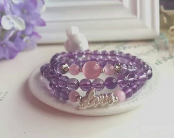 Natural purple crystal