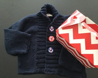 Hand Made Navy Toddler Jacket