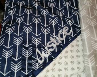 Custom crib blanket with baby name