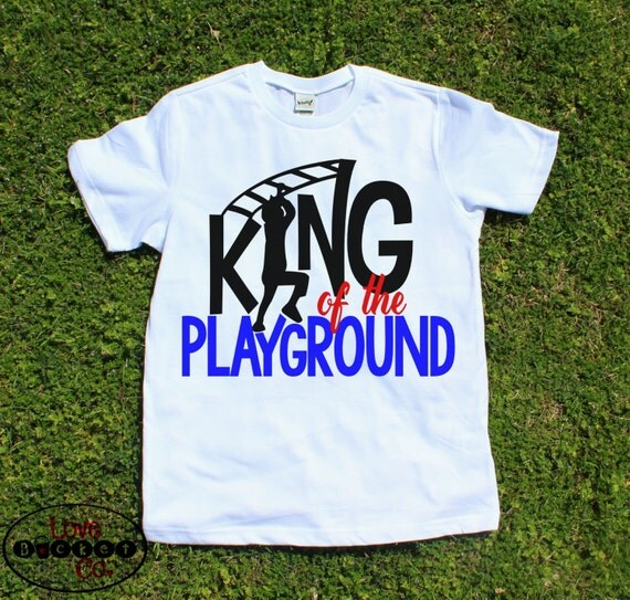 Boys Shirt Back To School King Of The Playground Boys