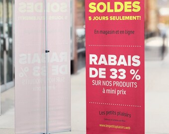 LOWEST Printed Banner with stand