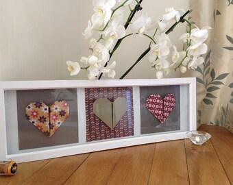 3 Origami Hearts