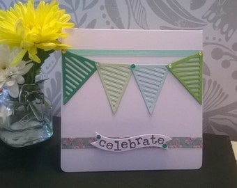 Homemade cards- Bunting