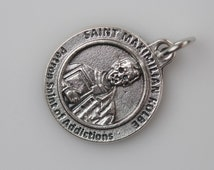 Saint Maximilian Kolbe Religious Healing Medal - Patron Saint of Drug Addicts and Addiction - Made in Italy Jewelry Supply (NS64)