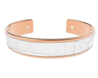 croco white rose gold