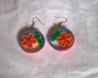 Quilling earrings / paper earrings / flower earrings